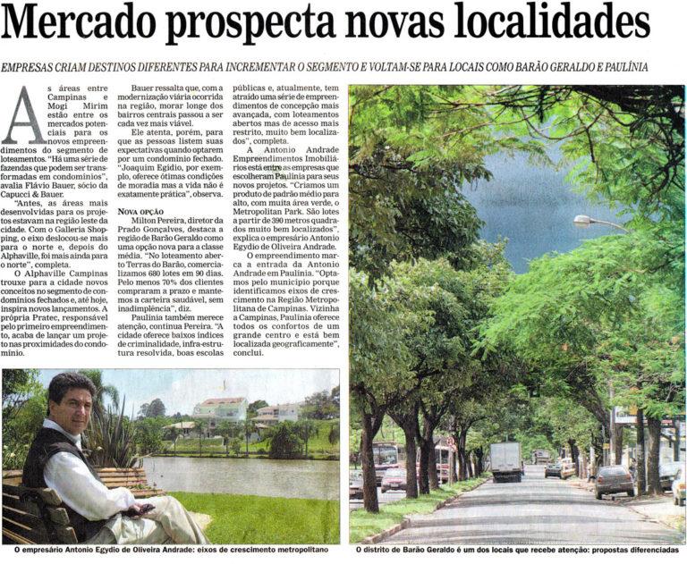 Mercado prospecta novas localidades