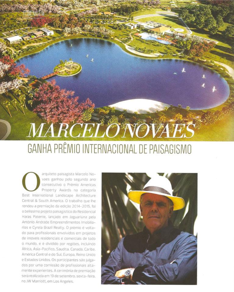 Marcelo Novaes Ganha Prêmio Internacional de Paisagismo