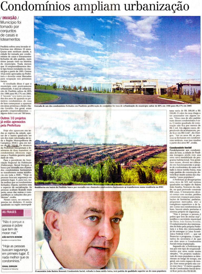 Condomínios ampliam urbanização